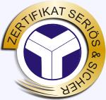 Zertifikat G�tesiegel
