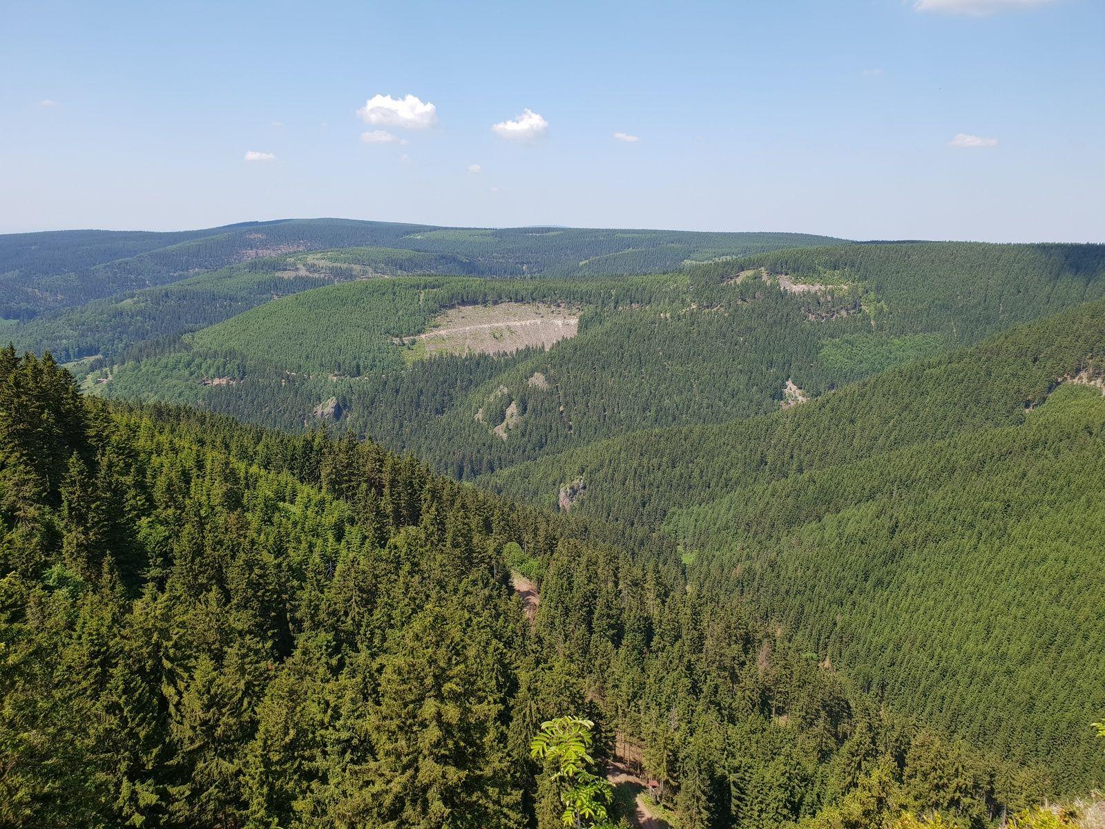 Zur hohen M�st - Blick auf das Tal