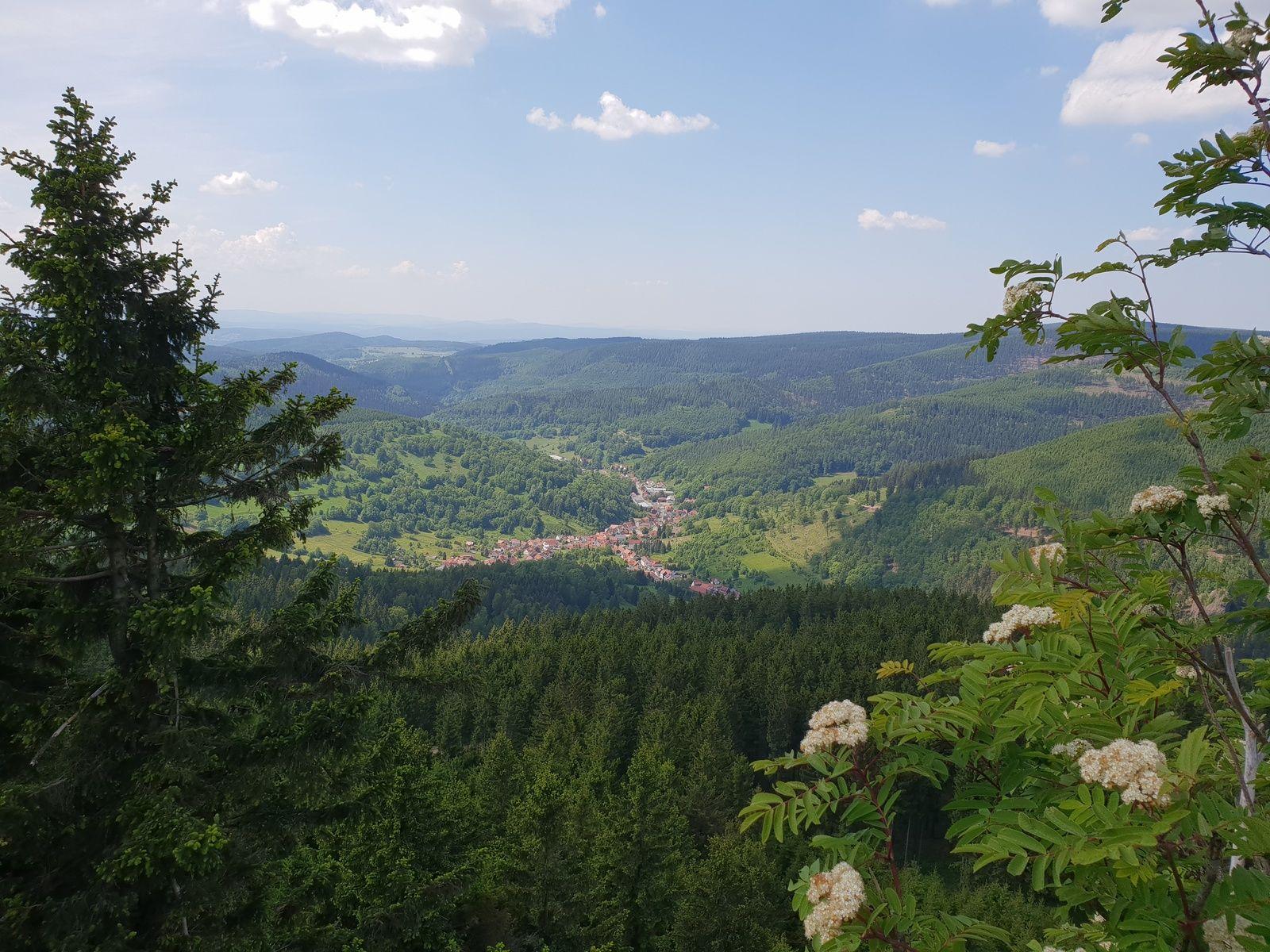 Blick auf Dorf von der hohen M�st