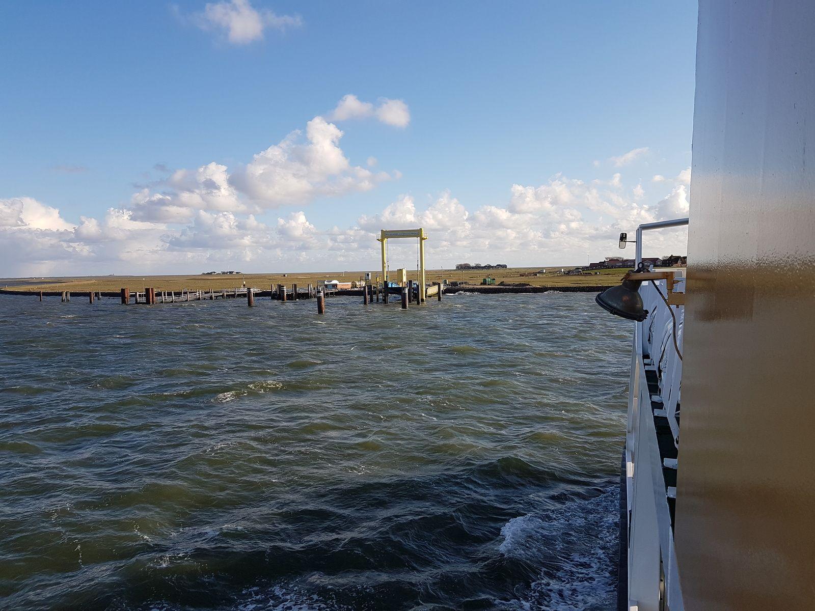 Hafen auf Hallig Hooge