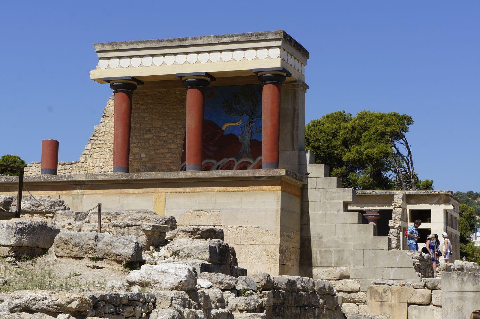 Gemäuer von Knossos