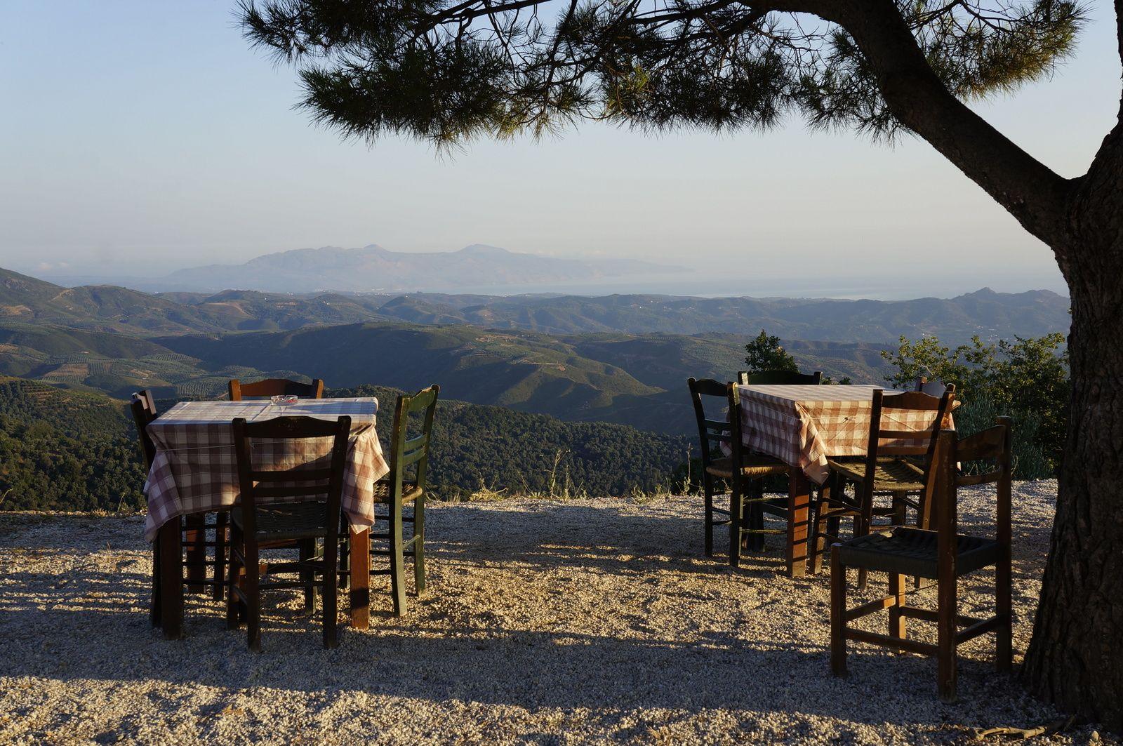 Blick über die Berge von Kreta