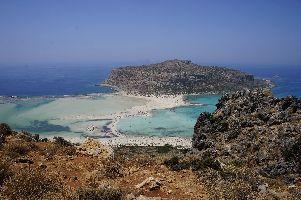 Blick vom Berg auf Balos Beach
