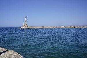 Leuchtturm von Chania im Kretischen Meer
